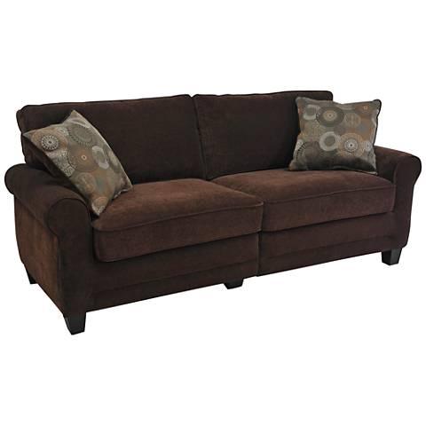 Serta Trinidad Chocolate Fabric Sofa