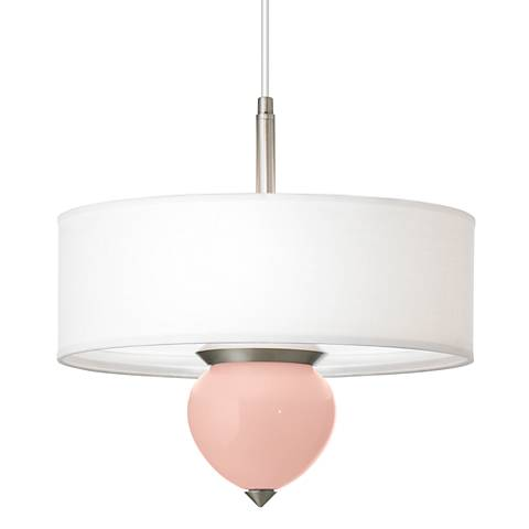 "Rose Pink Cleo 16"" Wide Pendant Chandelier"