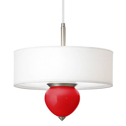 "Bright Red Cleo 16"" Wide Pendant Chandelier"