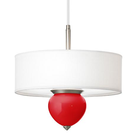 """Bright Red Cleo 16"""" Wide Pendant Chandelier"""