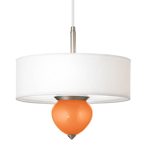 "Burnt Orange Metallic Cleo 16"" Wide Pendant Chandelier"