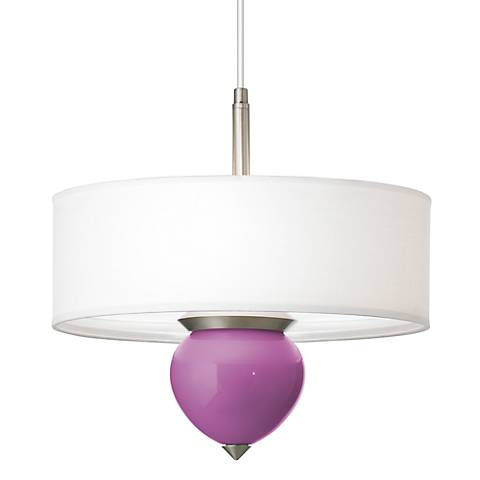 "Pink Orchid Cleo 16"" Wide Pendant Chandelier"