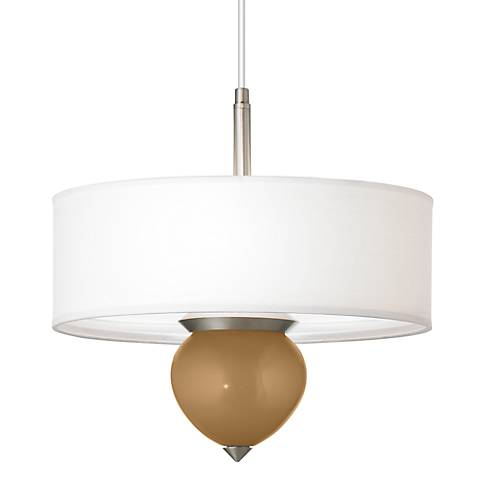 "Light Bronze Metallic Cleo 16"" Wide Pendant Chandelier"