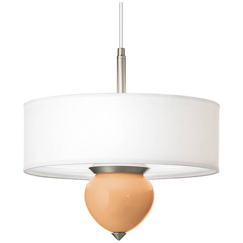 "Soft Apricot Cleo 16"" Wide Pendant Chandelier"