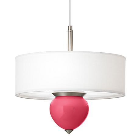 """Eros Pink Cleo 16"""" Wide Pendant Chandelier"""