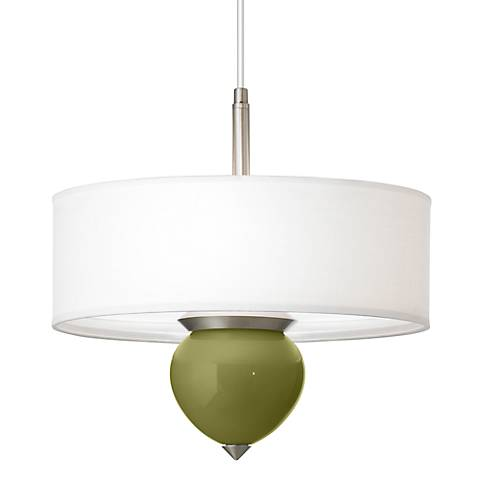 "Rural Green Cleo 16"" Wide Pendant Chandelier"