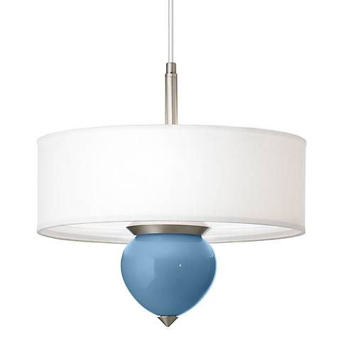 "Secure Blue Cleo 16"" Wide Pendant Chandelier"