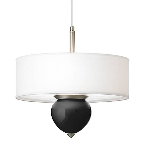 "Tricorn Black Cleo 16"" Wide Pendant Chandelier"