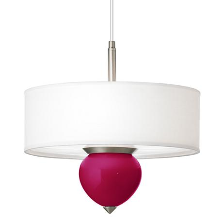 """French Burgundy Cleo 16"""" Wide Pendant Chandelier"""