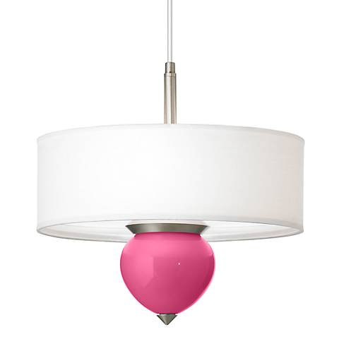 "Blossom Pink Cleo 16"" Wide Pendant Chandelier"