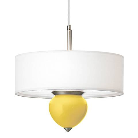 "Lemon Zest Cleo 16"" Wide Pendant Chandelier"