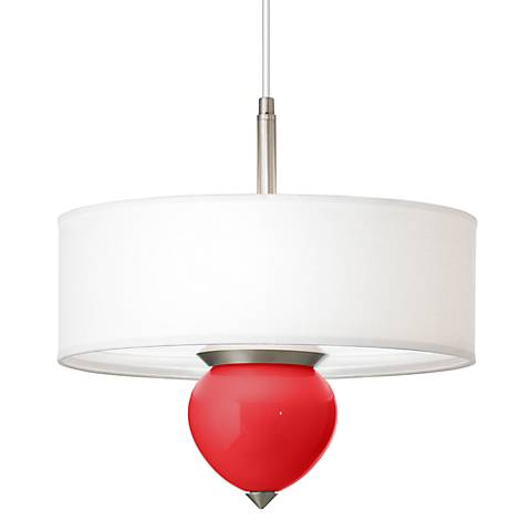 "Poppy Red Cleo 16"" Wide Pendant Chandelier"