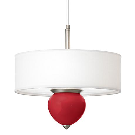 """Ribbon Red Cleo 16"""" Wide Pendant Chandelier"""