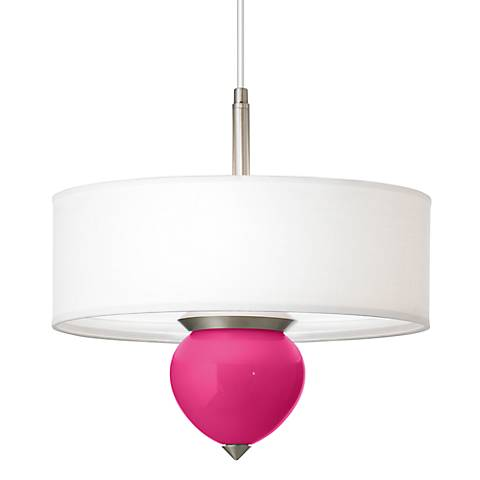 "Beetroot Purple Cleo 16"" Wide Pendant Chandelier"