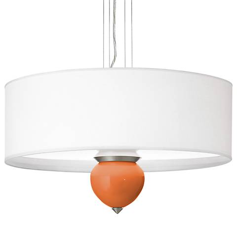 "Celosia Orange Cleo 24"" Wide Pendant Chandelier"