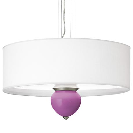 """Pink Orchid Cleo 24"""" Wide Pendant Chandelier"""