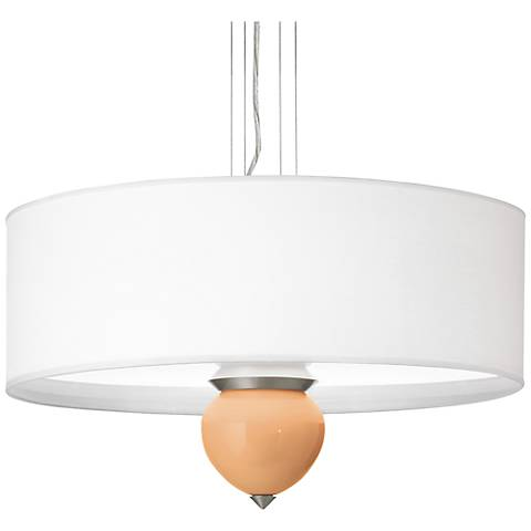 "Soft Apricot Cleo 24"" Wide Pendant Chandelier"