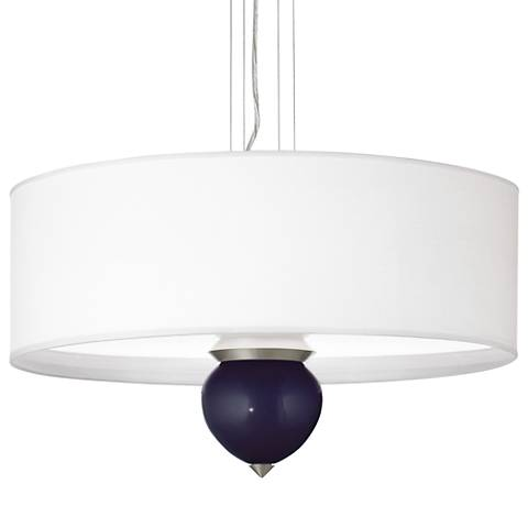 "Midnight Blue Metallic Cleo 24"" Wide Pendant Chandelier"
