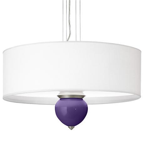 """Izmir Purple Cleo 24"""" Wide Pendant Chandelier"""