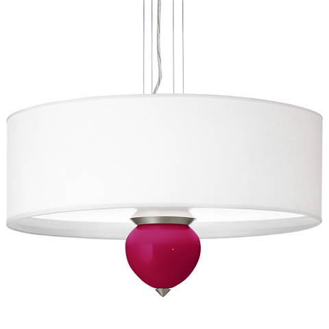 "French Burgundy Cleo 24"" Wide Pendant Chandelier"