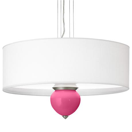 "Blossom Pink Cleo 24"" Wide Pendant Chandelier"