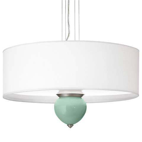 "Grayed Jade Cleo 24"" Wide Pendant Chandelier"