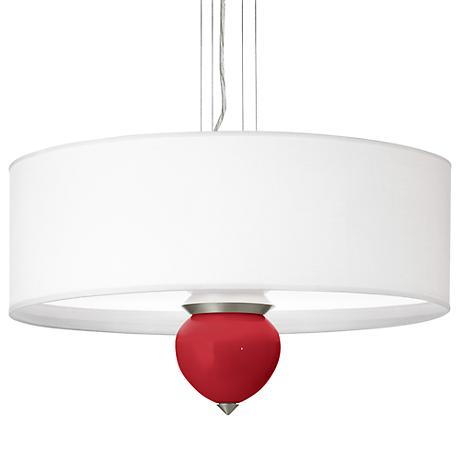 """Ribbon Red Cleo 24"""" Wide Pendant Chandelier"""