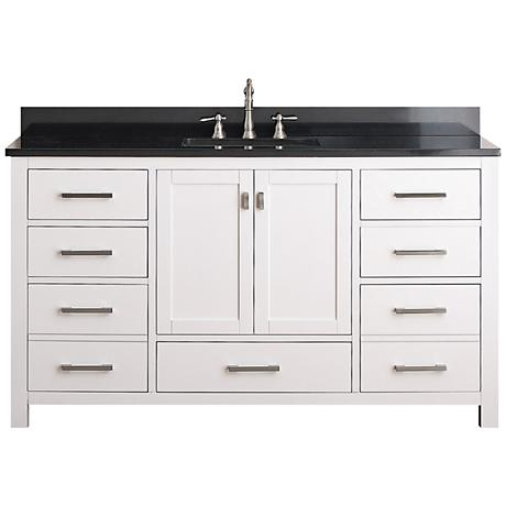 "Avanity Modero 60"" Wide Black Granite Sink Vanity"