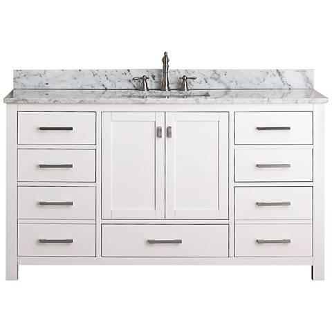 """Avanity Modero 60"""" Wide White Single Sink Vanity"""