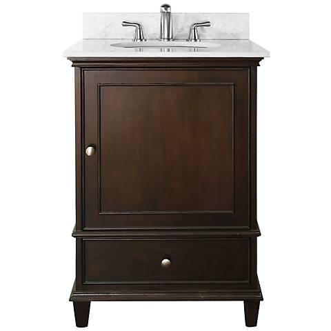 """Avanity Windsor 24"""" Wide White Marble Sink Vanity"""