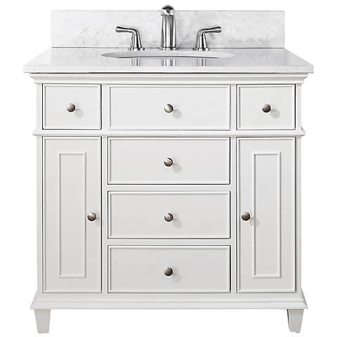 """Avanity Windsor 36"""" Wide White Sink Vanity"""