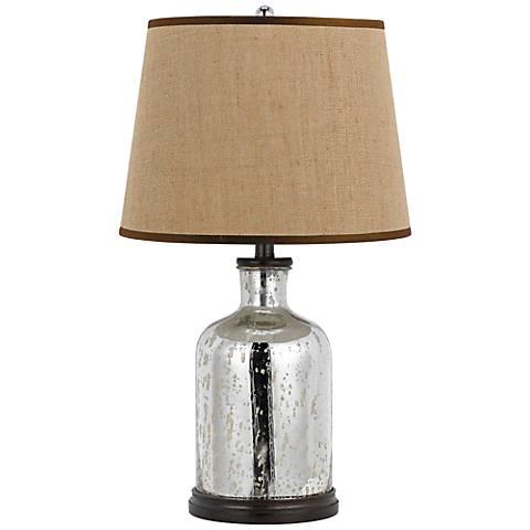 Malibu Mirror Glass Table Lamp