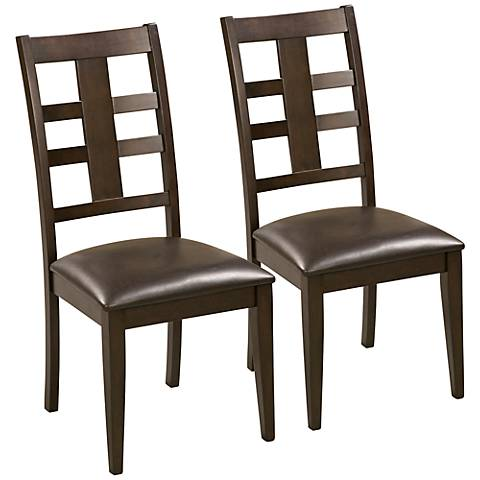 Piedmont Dark Walnut Set of 2 Side Chairs