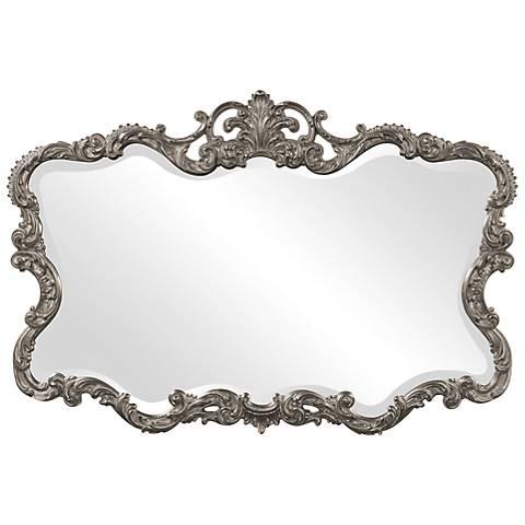 "Howard Elliott Talida 38"" x 27"" Nickel Wall Mirror"