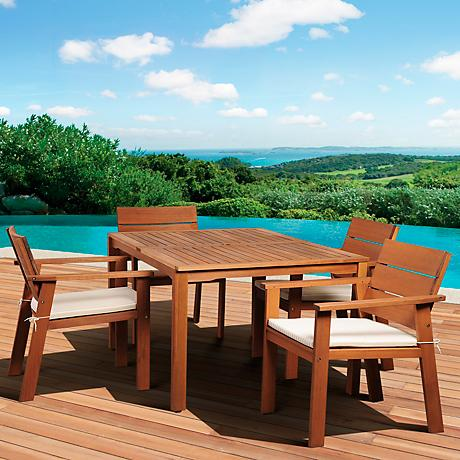 Amazonia 5-Piece Nelson Eucalyptus Rectangular Dining Set