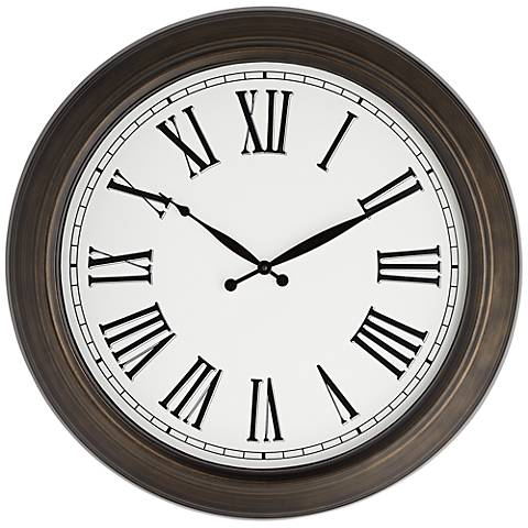 "Rainey 24 1/2"" Metal Wall Clock"
