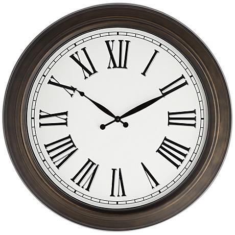 "Rainey 24 1/2"" Metal Wall Clock"