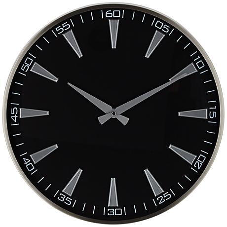 "Cormack 16"" Round Black Metal Wall Clock"