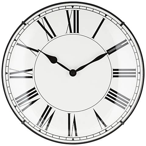 "Daimon 14"" Round Wall Clock with Roman Numerals"