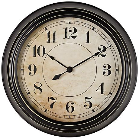 "Haslip 12"" Round Metal Wall Clock"