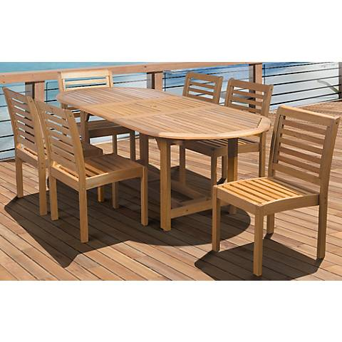Lucera 7-Piece Extendable Oval Patio Dining Set