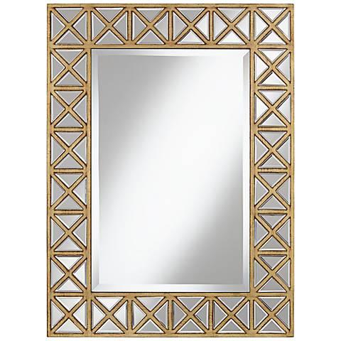"Genevieve Gold Frame 25 1/2"" x 34"" High Wall Mirror"