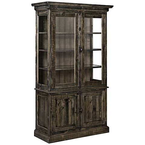 Bellamy Deep Weathered Pine China Cabinet