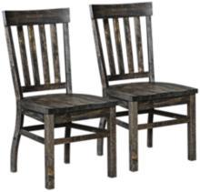 Bellamy Deep Weathered Pine Dining Chair Set of 2
