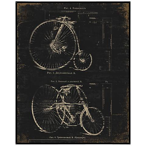"Architectural Bikes 20 1/2"" Wide Inverse Framed Wall Art"