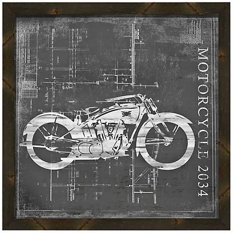 """Vintage Bike I 20"""" Square Framed Wall Art"""