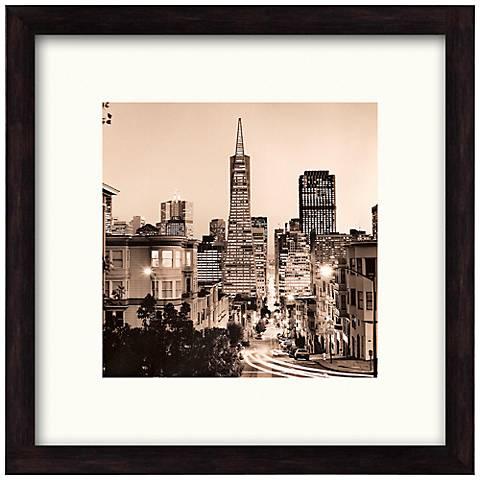 "San Francisco Nights I 20 1/2"" Square Framed Wall Art"