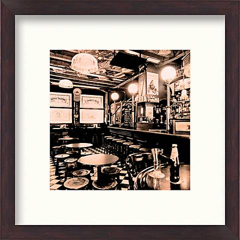 "Tavern 20 1/2"" Square Framed Wall Art"