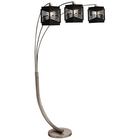 Nova Redact Espresso Arc 3-Light Floor Lamp