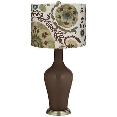 Carafe Green Floral Paisley Anya Table Lamp